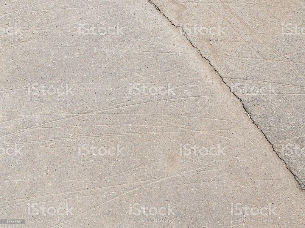 gray asphalt with crack stock photo