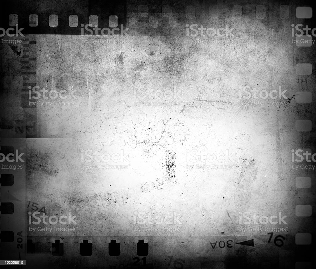 A gray background of film negatives stock photo