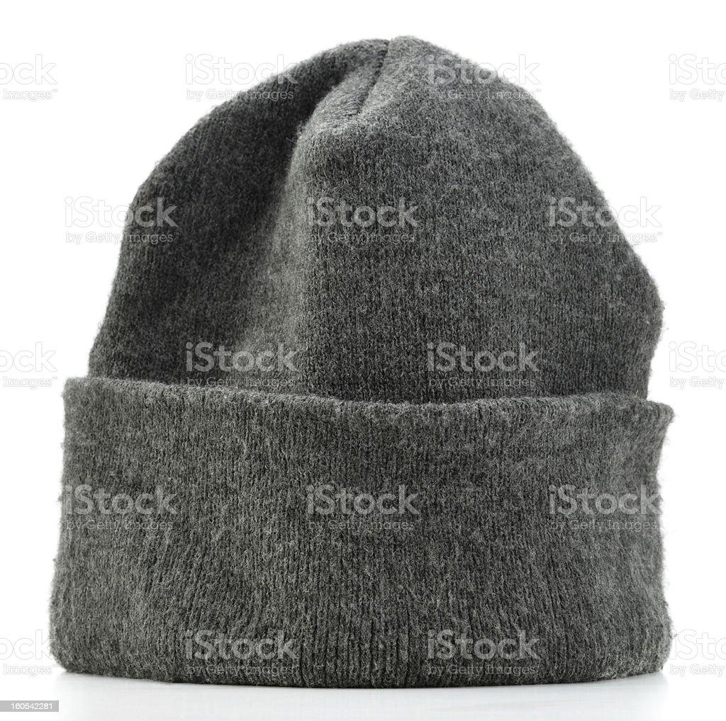 Gray Beanie Hat stock photo