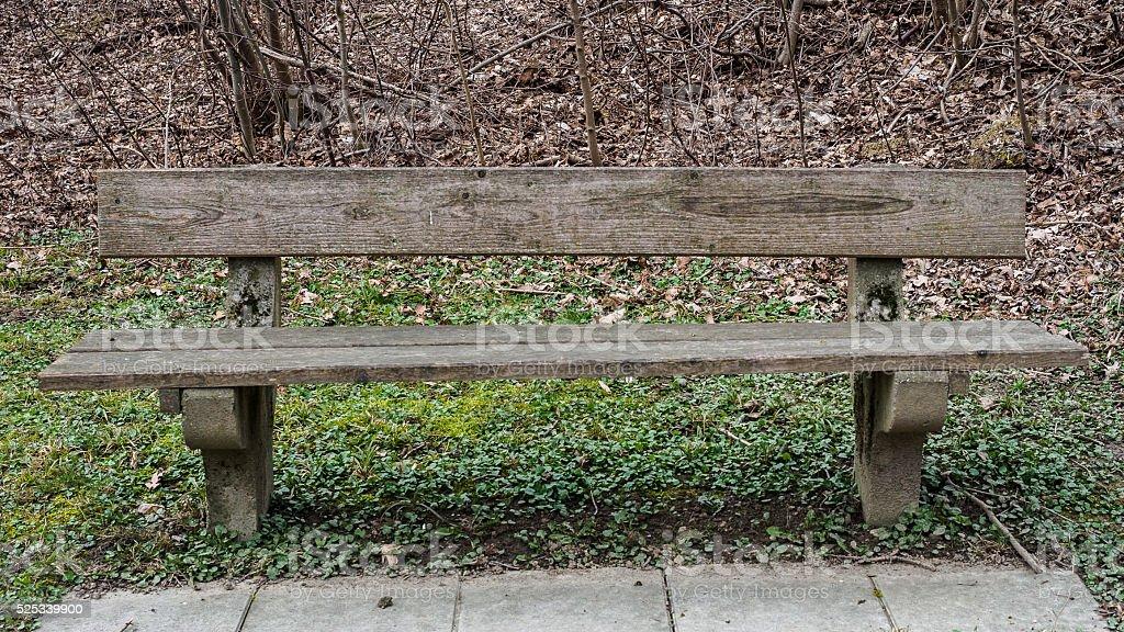 Gray bench stock photo