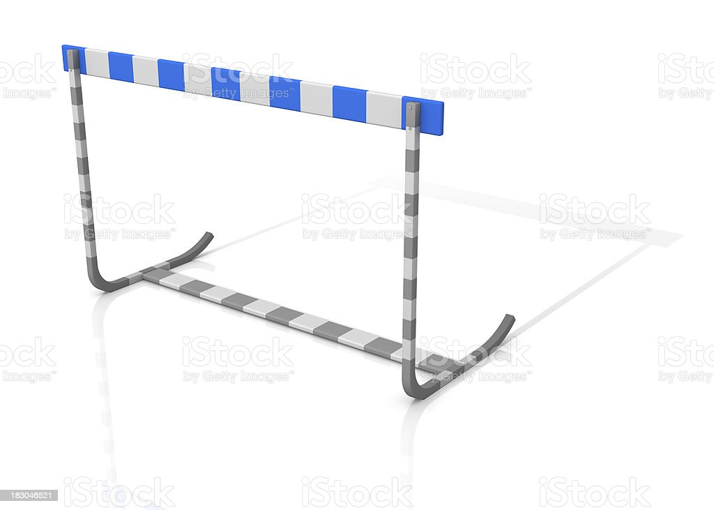 Gray Blue Hurdle royalty-free stock photo