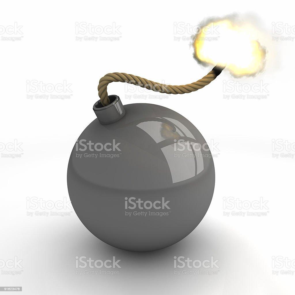 gray bomb burning royalty-free stock photo