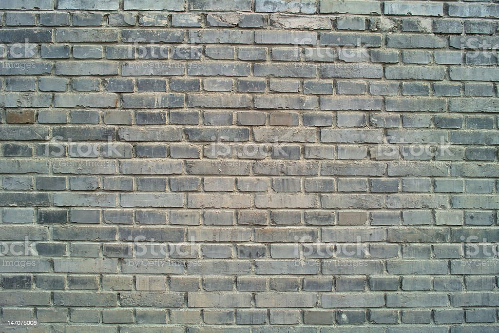 Gray Brick Wall: Textured Backgrounds royalty-free stock photo
