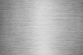 Gray Brushed Metal Texture Background - Steel or Aluminium