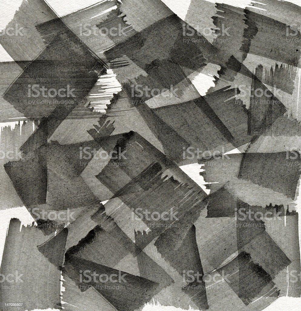 gray brushlines painting royalty-free stock photo