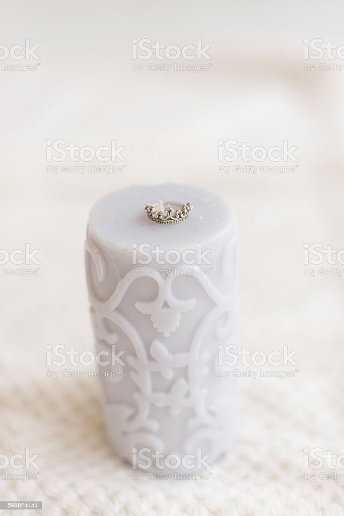 gray candle ring stock photo