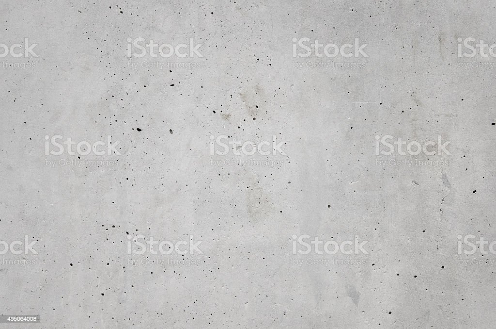 gray cast in place concrete with bubble hole texture background stock photo