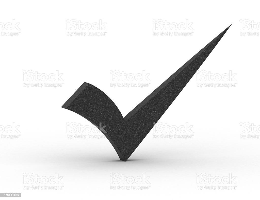 Gray checkmark royalty-free stock photo