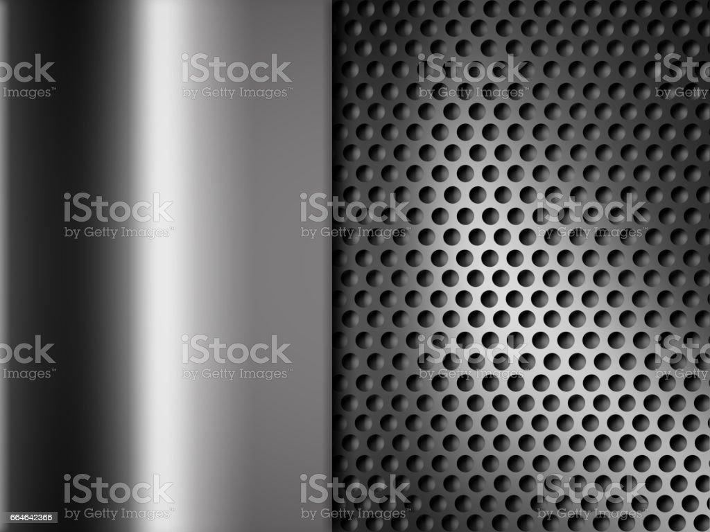Gray chrome metallic mesh. metal background and texture stock photo