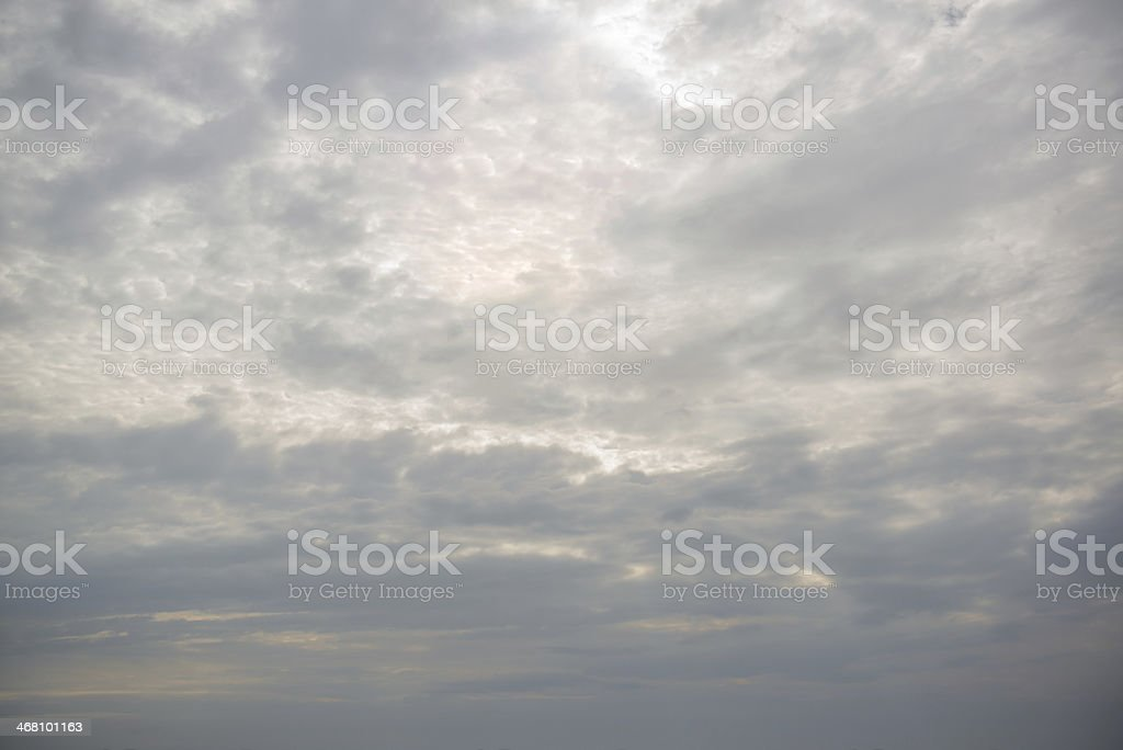 Gray clouds in the sky stock photo