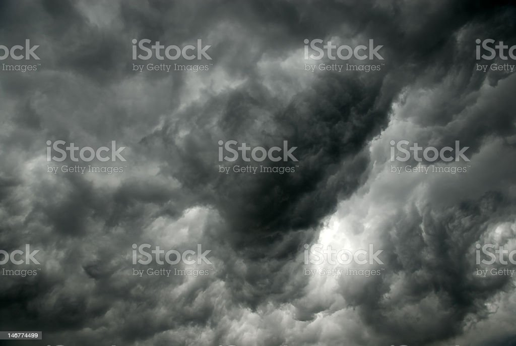 Gray clouds royalty-free stock photo