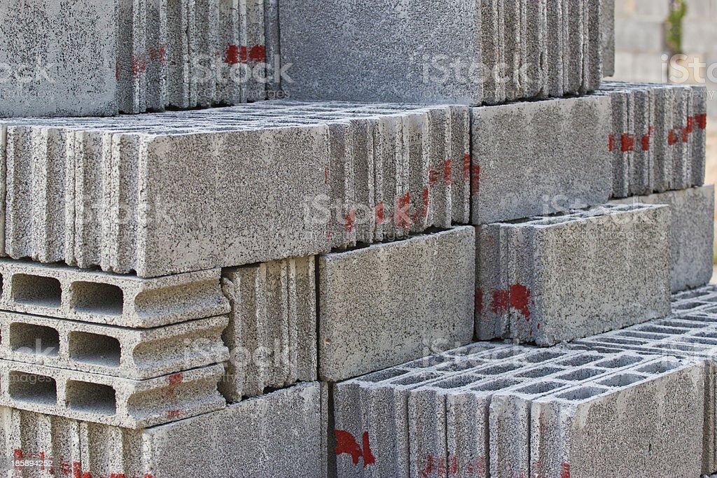 gray concrete construction blocks stock photo