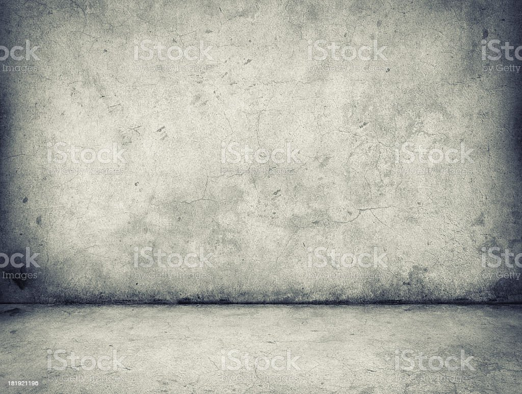 Gray concrete wall and floor background stock photo