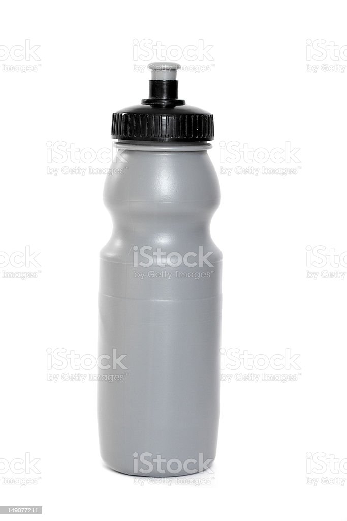 Gray drinking flask royalty-free stock photo