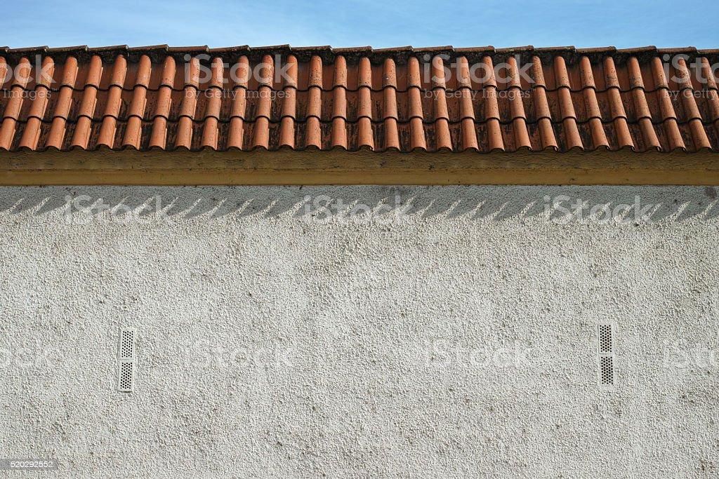 Gray fence wall royalty-free stock photo