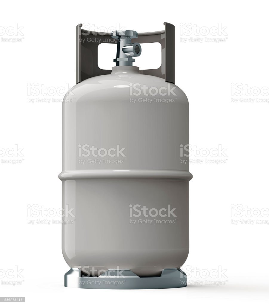 gray gas container stock photo