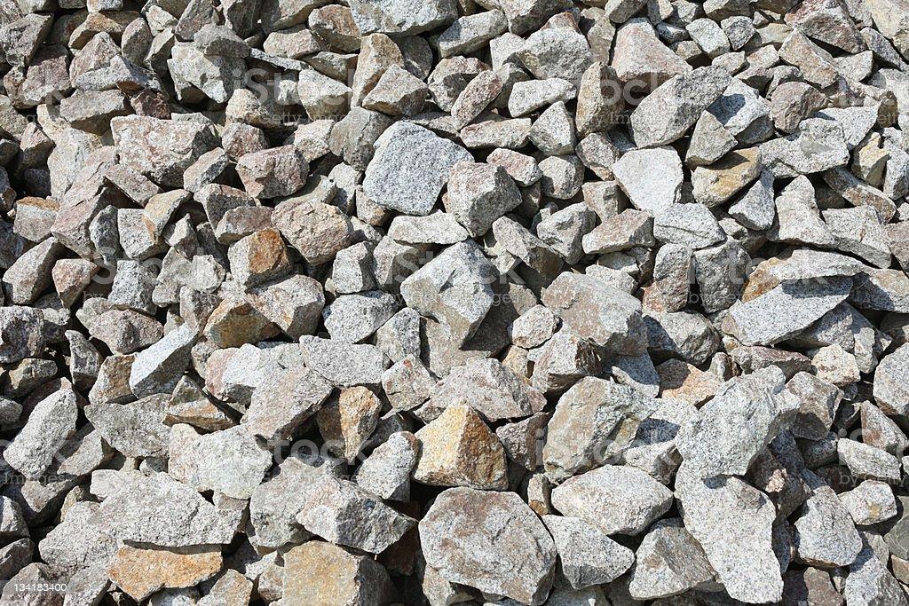 Gray gravel stock photo