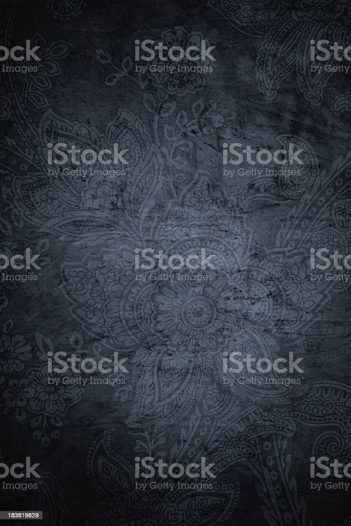 Gray Grunge Paisley Background stock photo