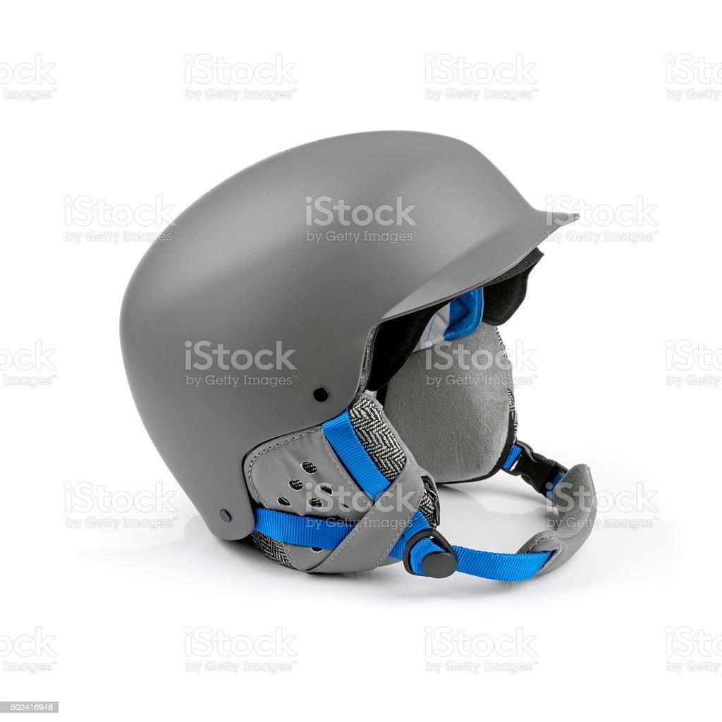 gray helmet isolated on white stock photo