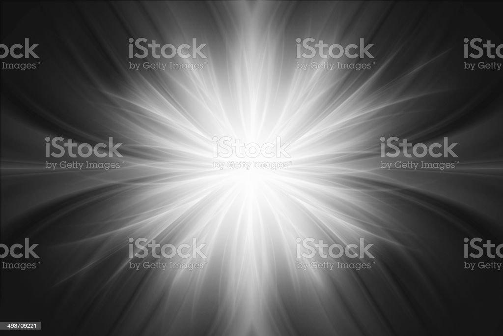 Gray luminous rays background stock photo