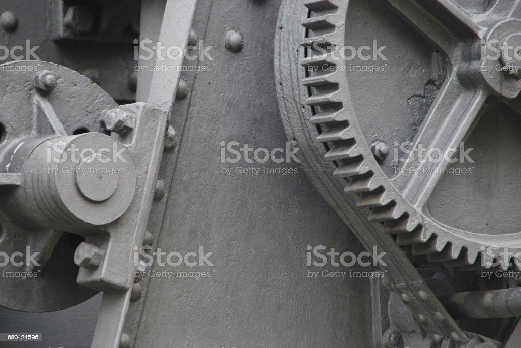 Gray machinery stock photo