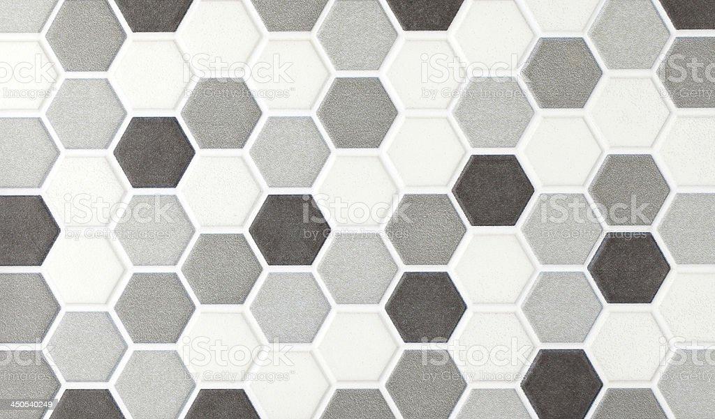 gray marble hexagonal tiles stock photo