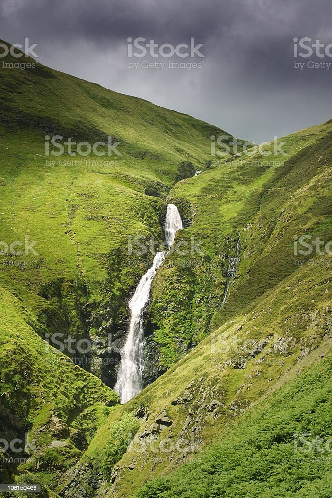 Gray Mare's Tail Waterfall in Scotland stock photo