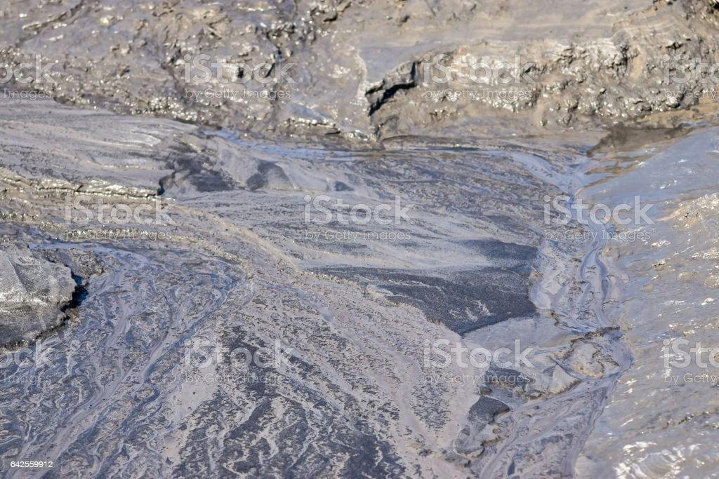 gray marsh soil stock photo