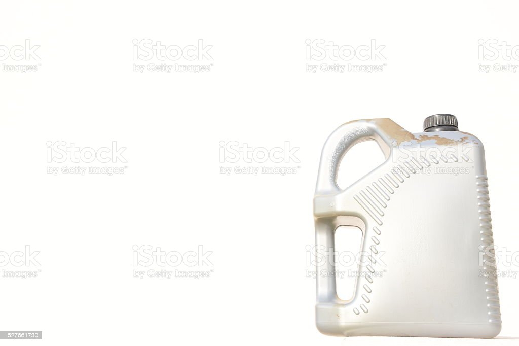 Gray Motor Oil Bottle stock photo