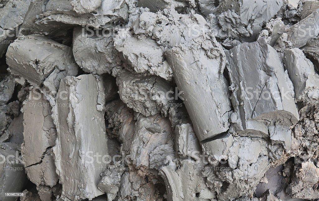 Gray mud stock photo