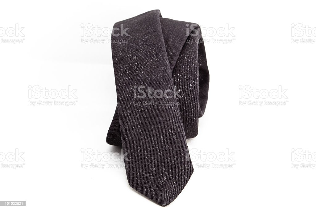Gray necktie royalty-free stock photo