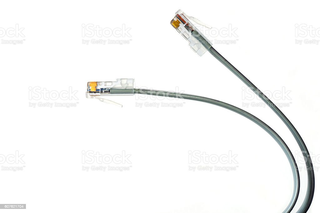 Gray network cables foto de stock royalty-free