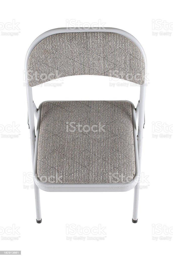 Gray Padded Folding Chair stock photo