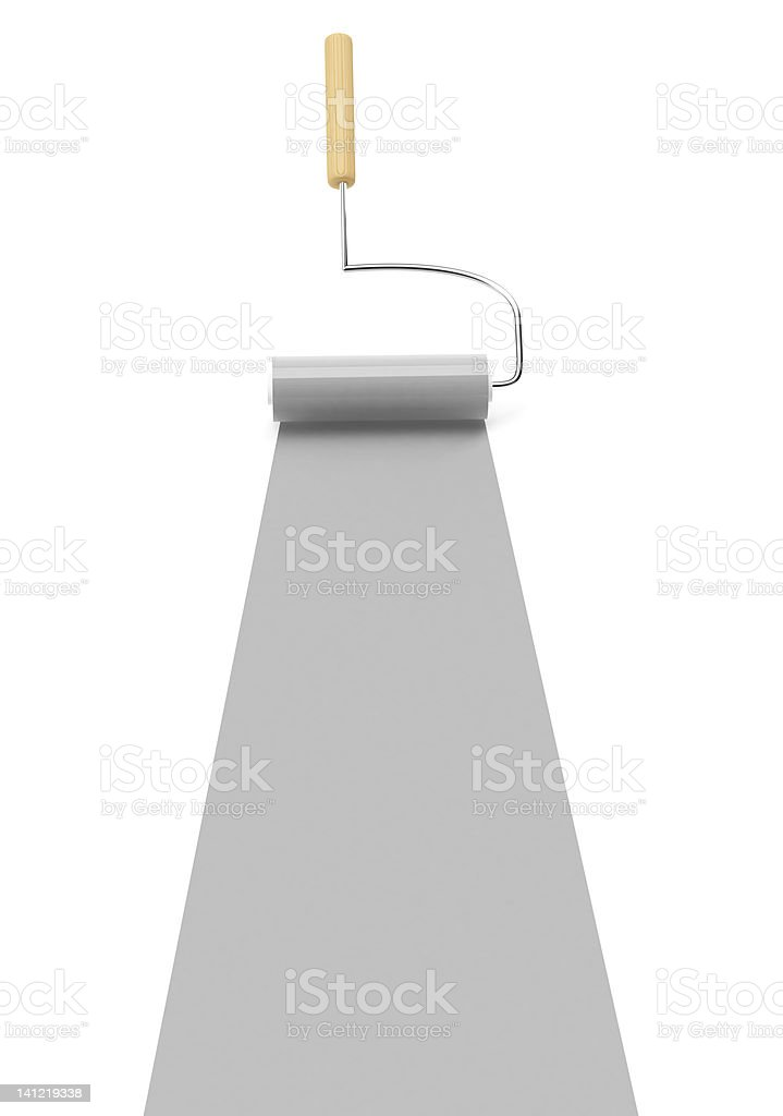 3D Gray Paint roller royalty-free stock photo