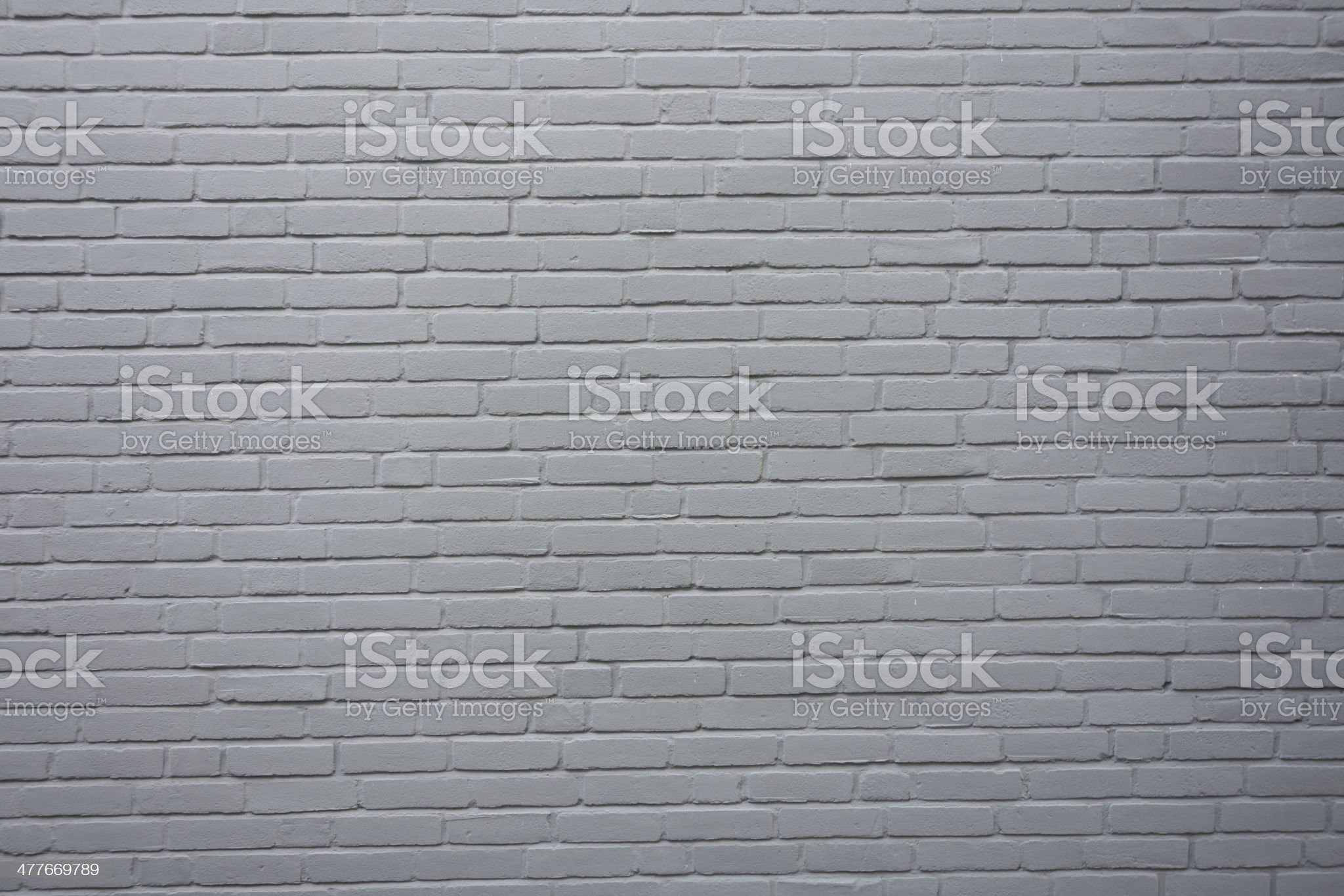 Gray painted Brick wall background royalty-free stock photo