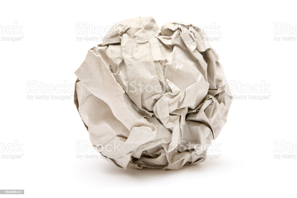 Gray Paper Ball stock photo