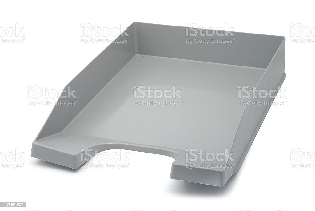 Gray Papper Tray stock photo