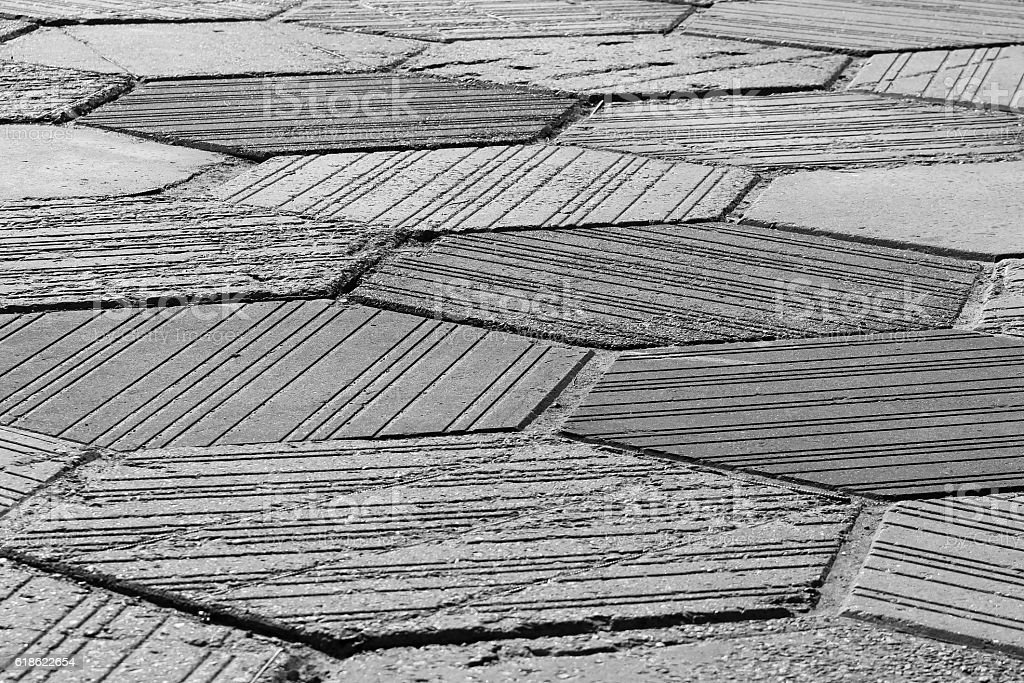 Gray pavement texture stock photo