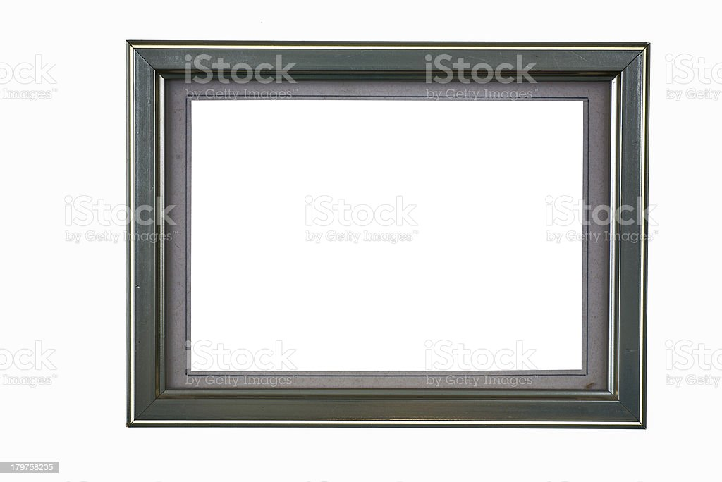 gray picture frame with paper passepartout photo mount royalty-free stock photo