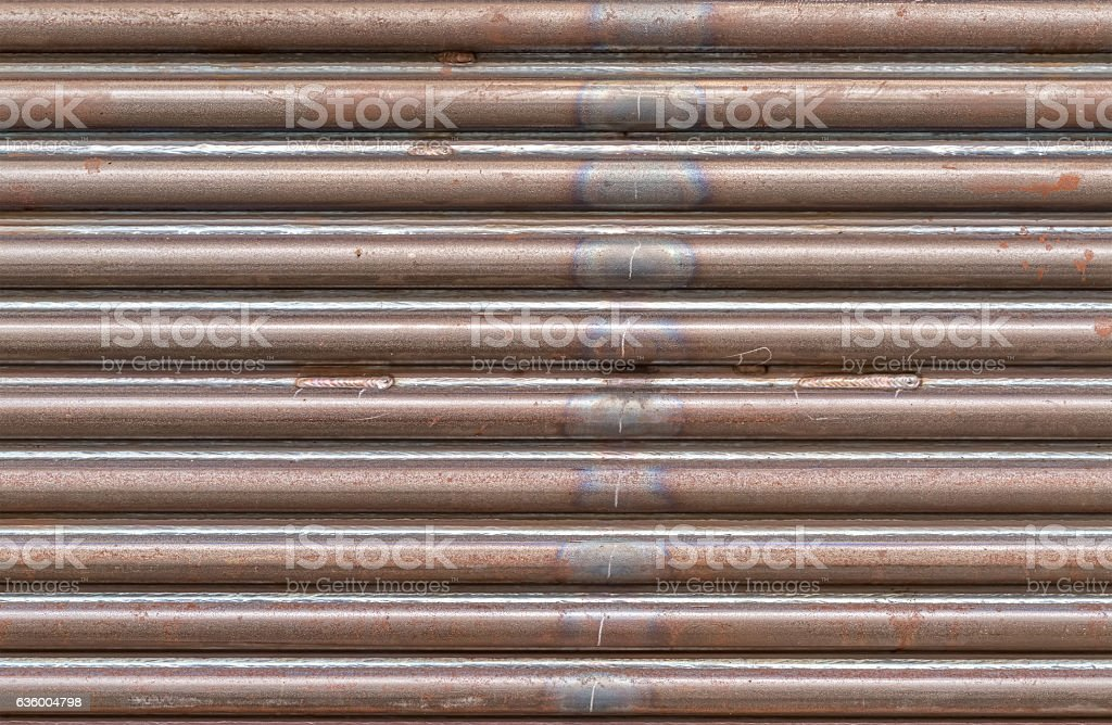 Gray pipes background stock photo