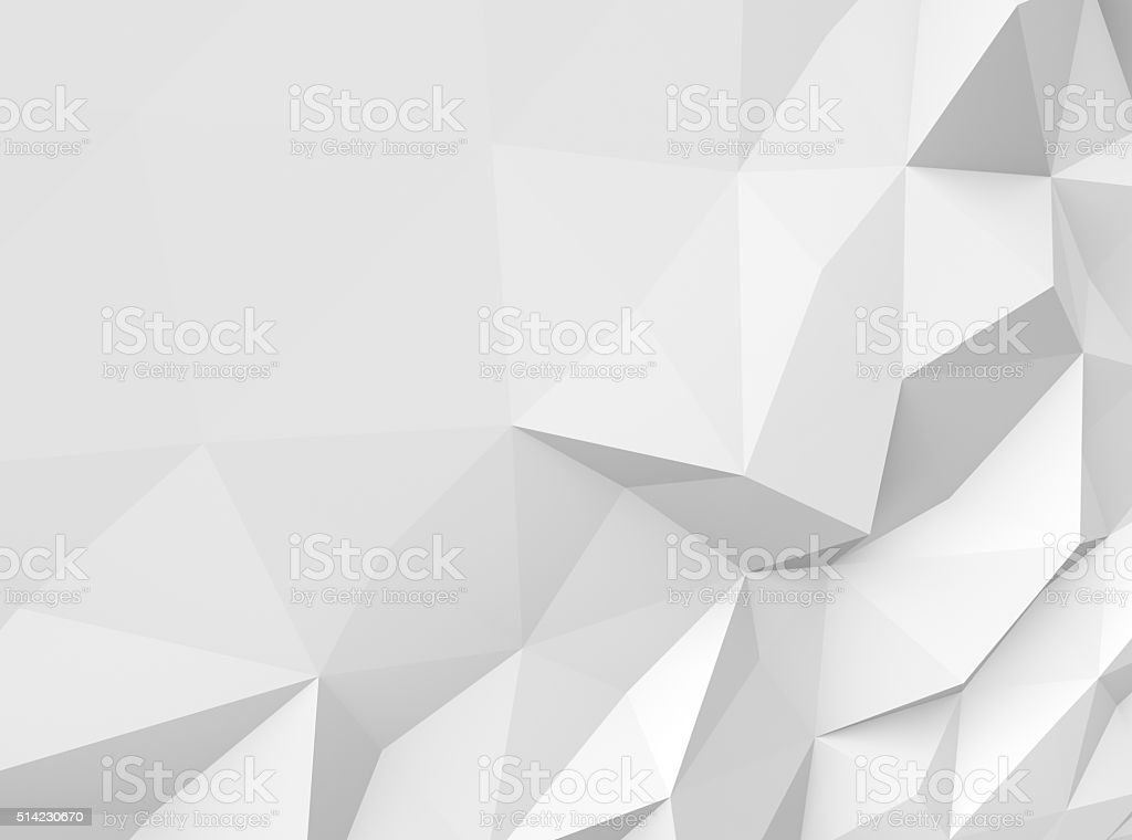 Gray polygonal background stock photo