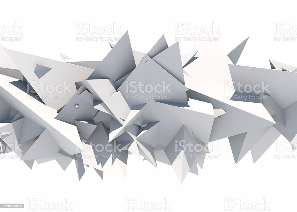 Gray polygonal background stock photo