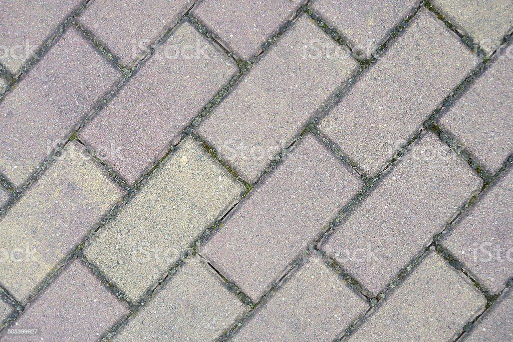 Gray rectangular paving slabs royalty-free stock photo