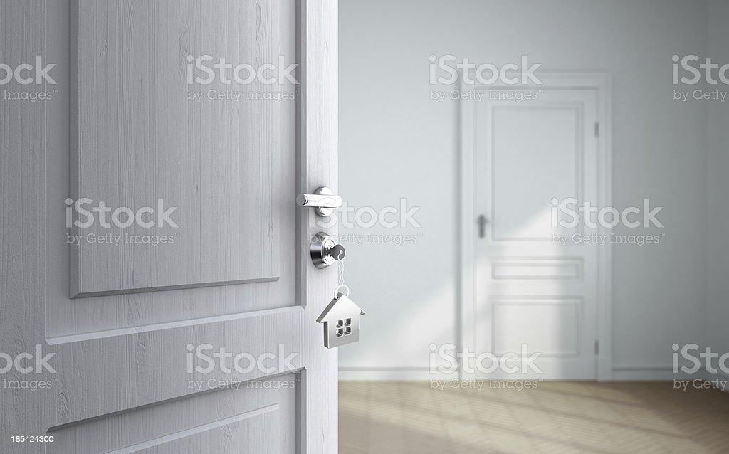 gray room stock photo