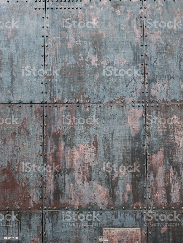 Gray ship texture stock photo