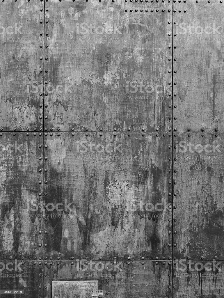 Gray ship texture stock photo