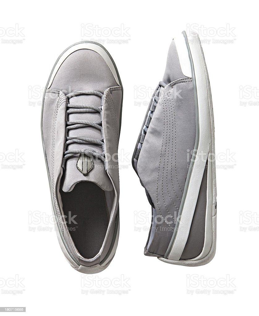 gray shoes stock photo