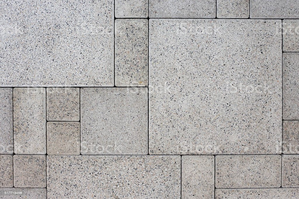 Gray square bricks stock photo