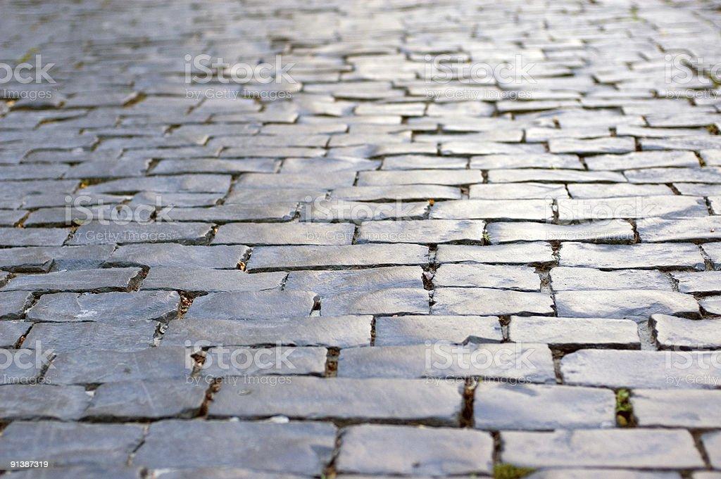 Gray stone road royalty-free stock photo