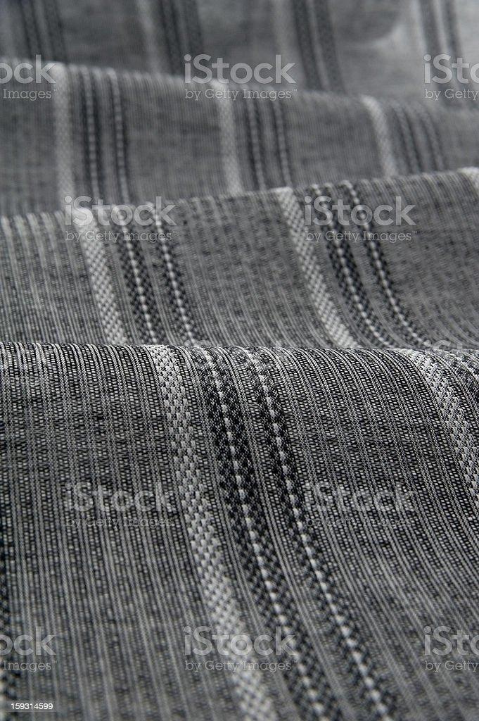Gray stripe fabric royalty-free stock photo